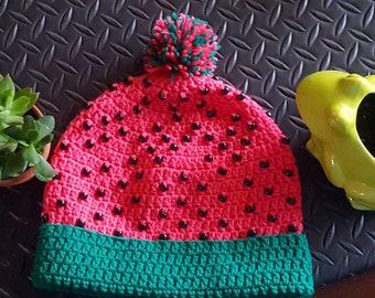 Watermelon hat.