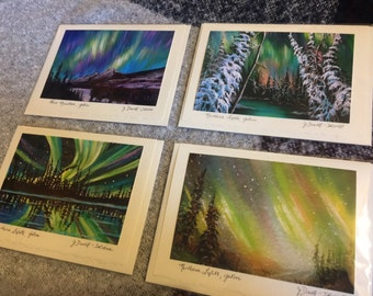 4 Fine Art Cards - Northern Lights Collection