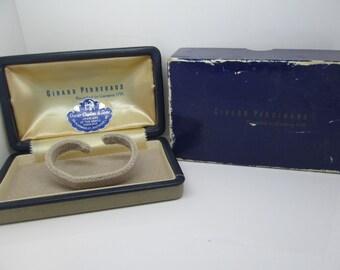 Vintage Girard Perregaux Mens Wrist Watch Case & Box
