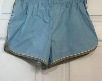 Vintage 80's Jantzen Baby Blue Swim Trunks Shorts Made in USA Men's 40 New