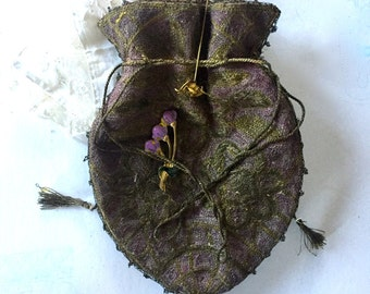 Antique Reticule bag / pouch / lady's hand bag / Flapper girl bag.