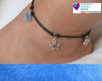 TFIOS  themed cord anklet.