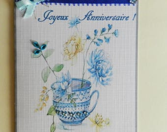 greeting card. Lovely birthday girl card. Handmade, handcrafted