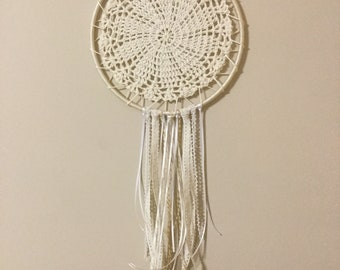 Cream doily dream catcher