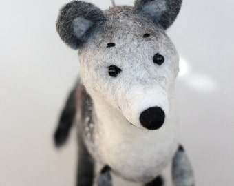 Wolf Felt Toy - Ralph, Art Toy Gift for kids Puppet handmade soft toy Marionette Woodland animal  Stuffed plush toy Forest animals for boy.