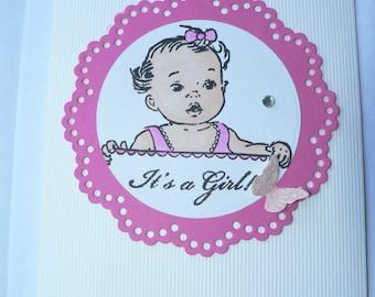baby girl birth congratulations card