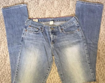 Vintage Abercrombie & Fitch Women's Mom Jeans Size 2L 100% Cotton Made In USA