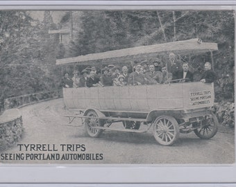 Tyrell Trips Sightseeing Touring Auto Vehicle Plenty Room For Tourists Postcard,Details On Reverse