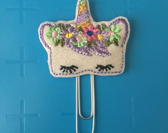 Sleepy Unicorn Planner Clip
