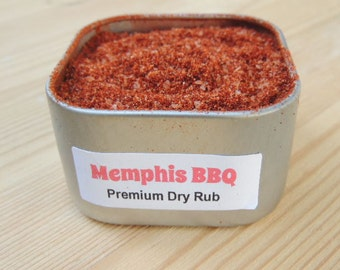 Memphis Original BBQ Barbeque Dry Rub In Tin SUGAR FREE