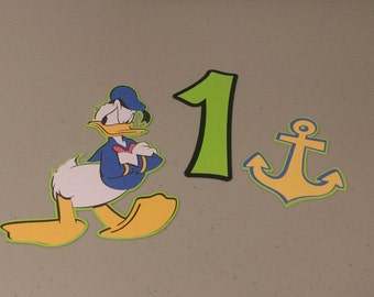 Donald Duck Centerpiece, Donald Duck Cutouts, Donald Duck Birthday Party Decorations, Cake Topper, Party Supplies
