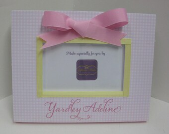 Baby Girl Personalized Name Frame with Bow