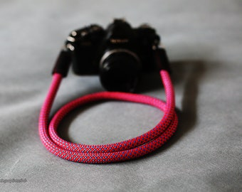 RED Climbing rope 10.5mm handmade Camera neck strap