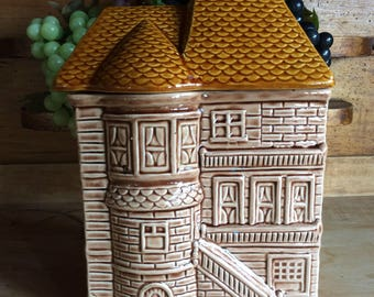 Vintage house cookie jar novelty kitchen storage canister Japan