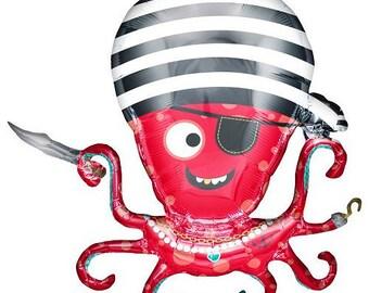 Pirate Octopus Balloon/ pirate party / pirate theme/ pirate birthday