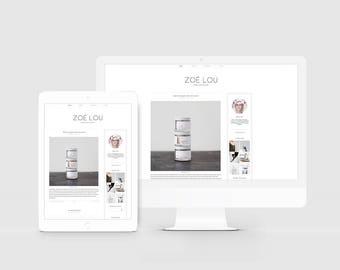 Scandinavian Blog Template — Responsive Blog Design — Clean Blog Theme — Lifestyle Blog — Minimal Blogger Template — Fashion Template / Zoe