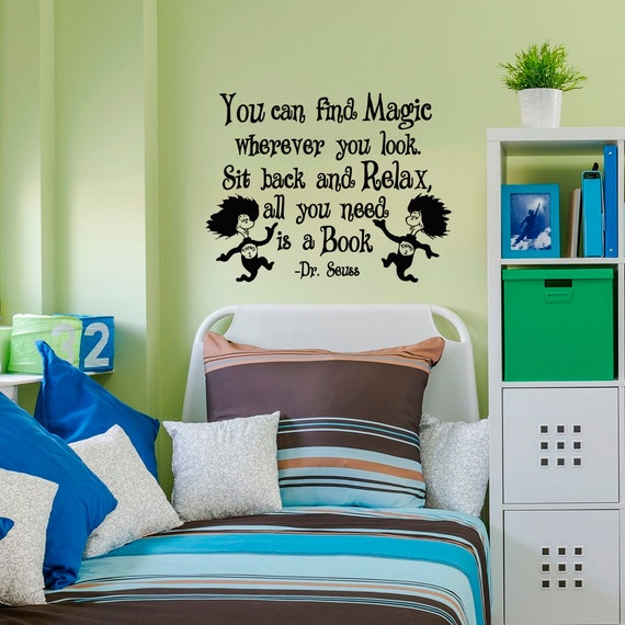 Dr Seuss Wall Decals Quotes You Can Find Magic Wherever You