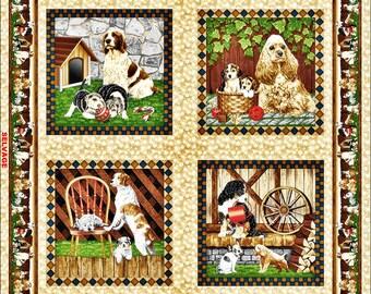 "Fabri-Quilt ""4 Paws"" Dog Pillow Panel 112-28941 Fabric Priced Per Panel 36""x44"""