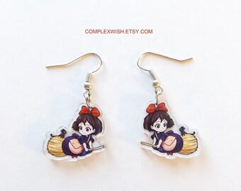 Kiki's Delivery Service earrings - Kiki and Jiji