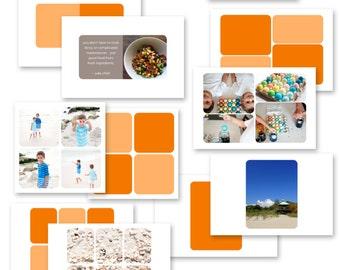 la colección simplemente blanco v5r - conjunto de plantillas de collage de foto digital (redondeado)