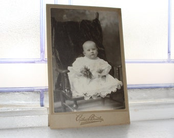 Victorian Child Cabinet Card Photograph Antique 1800s