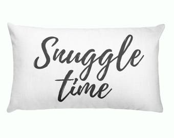 Lumbar Pillow - Snuggle Time | Personalized Pillow |  Throw Pillow | Monogrammed Gift | Rustic Home Decor | Home Decor | Farmhouse Decor