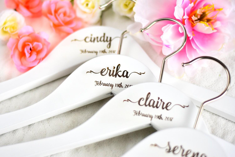 SET von 5 Hochzeit Kleiderbügel personalisierte