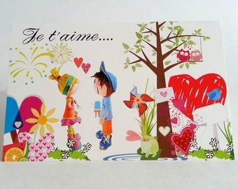 French valentine's day greating card