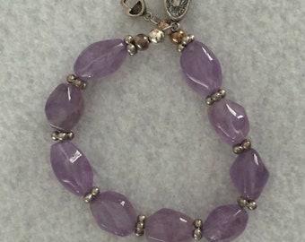 Amethyst and Sterling Silver Bracelet