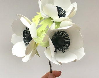 """3"""" Anemone, Paper Flower Template (SVG, DXF)"""