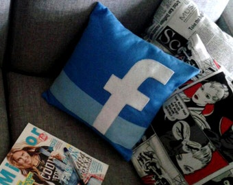 Decorative Facebook pillow / cushion case