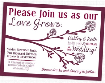 Love Grows Tree Wedding Invitations