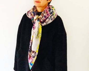 Caught by cotton voile scarf