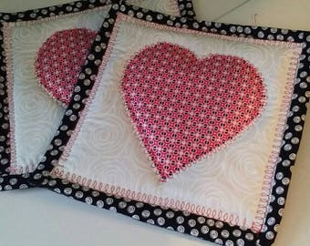 Quilted Heart potholders