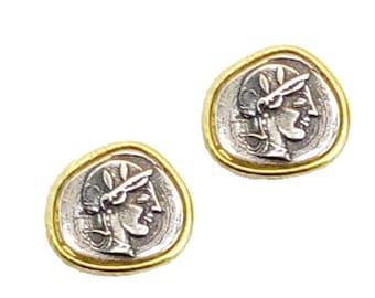 Goddess Athena Silver Earrings