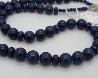 lapis lazuli beads 10 mm natural blue stone necklace