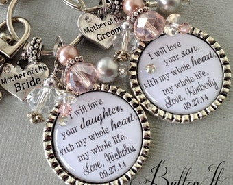 MOTHER of the BRIDE gift, PERSONALIZED wedding, mother of groom gift, thank you for raising man of my dreams love your daughter whole heart