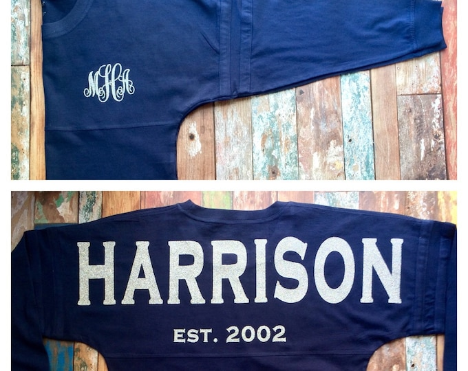 Monogrammed Sweatshirt, Monogram Pullover Tunic Shirt, Monogrammed Pullover Long Sleeve, Newlywed, Honeymoon, Monogrammed Gifts