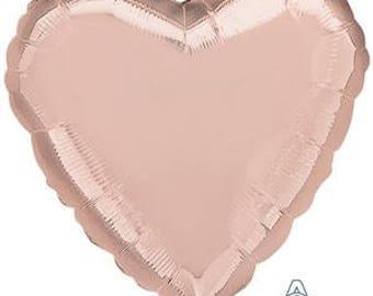 Valentine's Day HEART BALLOON, Rose Gold HEART Balloon