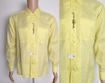 Vintage 1950s Mens Shirt 50s Deadstock NOS Swanky Rock and Roll