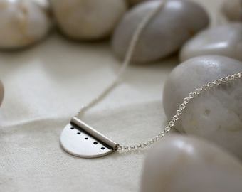 Sterling Silver Bunting Necklace