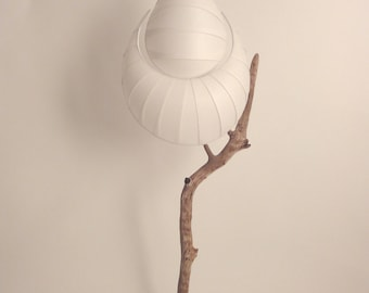 Lamp DROP , wood and japanese paper