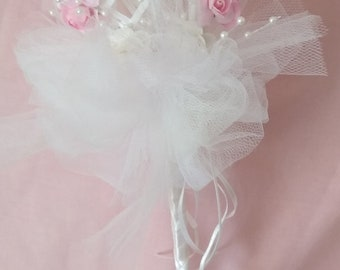Flower Girl Bridesmaid Wand 'Flora'