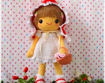 PDF Crochet Pattern - Little Red Riding Hood