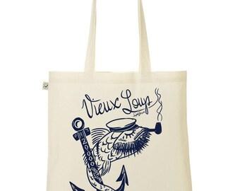 old salt / anchor tote bag