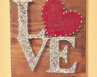 Homemade love plaque