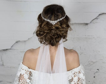 Pearl Bridal Headpiece Hair Comb, Bride Head Piece, Wedding Hair Accessories, Halo, Head Chain Hair Jewelry