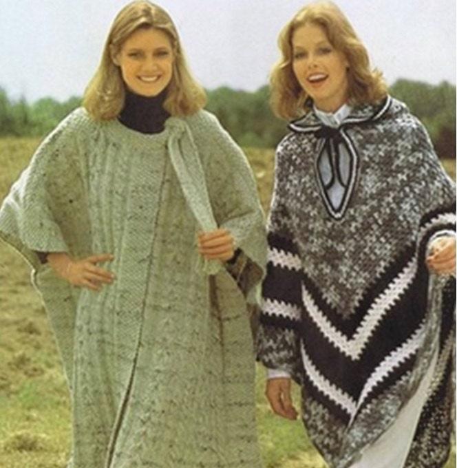 Patron pdf de tejido en crochet 2 patrones de crochet ponchos