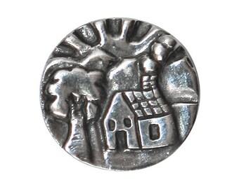 Danforth Cottage 11/16 inch ( 18 mm ) Pewter Shank Button