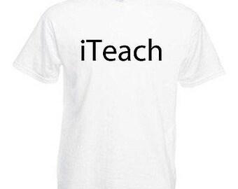 Teacher adults mens t shirt 12 colours  size s - 3xl